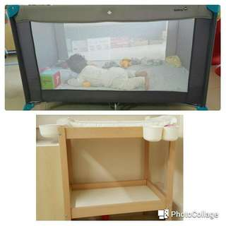 Playpen And Changing Table