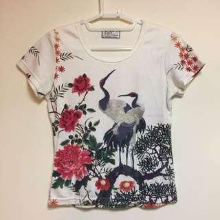 中國風圖案 滿版Tshirt