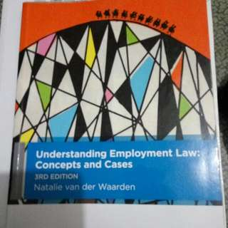 Understanding Employment Law: Concepts and Cases, 3rd Edition. Natalie Van Der Warden