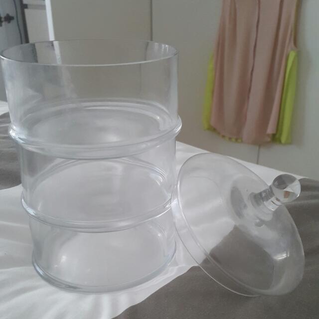 3 Tier Glass Jar