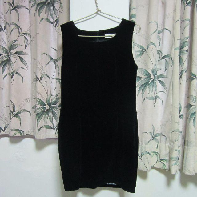 古著黑色無袖短洋裝