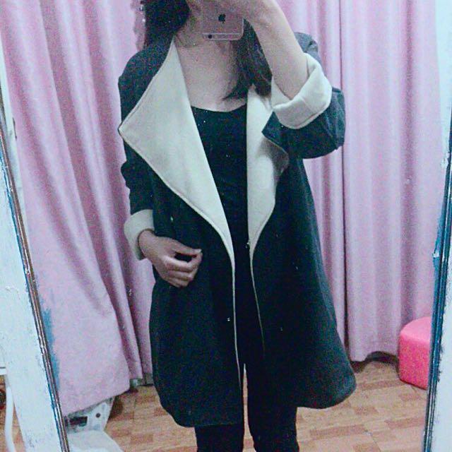 韓版繭形大衣