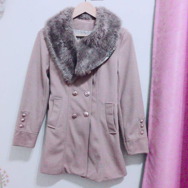 排扣氣質大衣