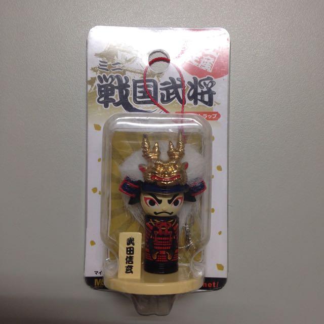 大阪城土產限定戰國武將-武田信玄 手機吊飾