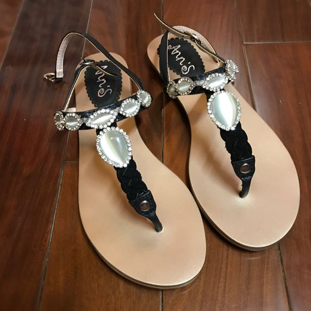 Ann's 漸層貓眼寶石涼鞋(全新)