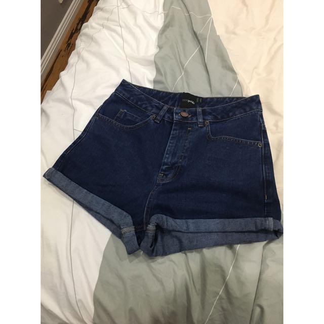 ASOS Petit High WaistedDenim Shorts