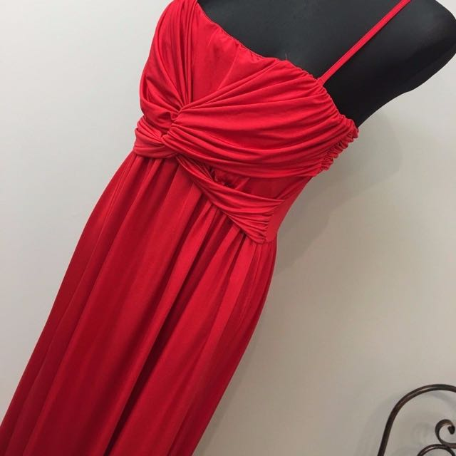 Asos Red Evening Gown Dress