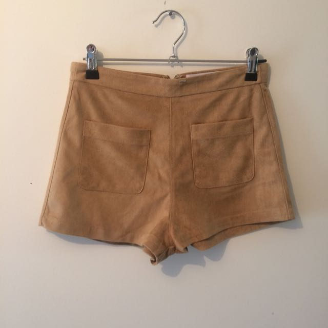 Ava & Ever Tan Suede Shorts
