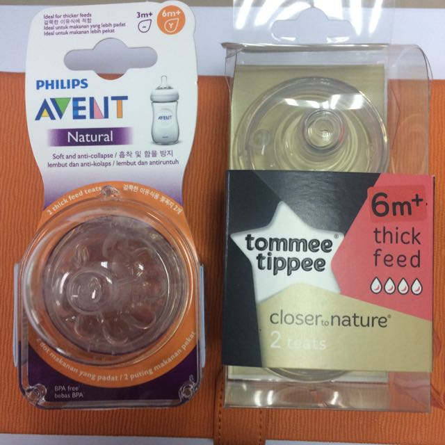 Avent Natural Teat & Tommee Tippee Teat