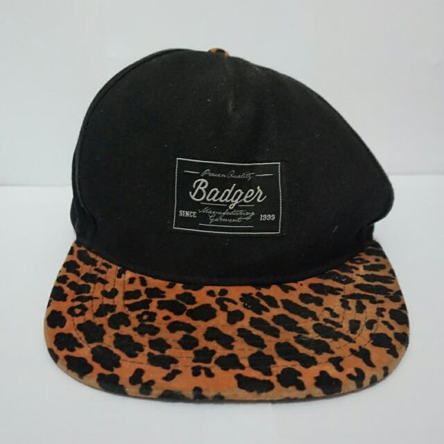 Badger Snapback Leopard