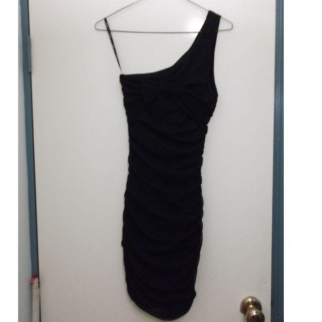 BARDOT ONE SHOULDER DRESS - 8