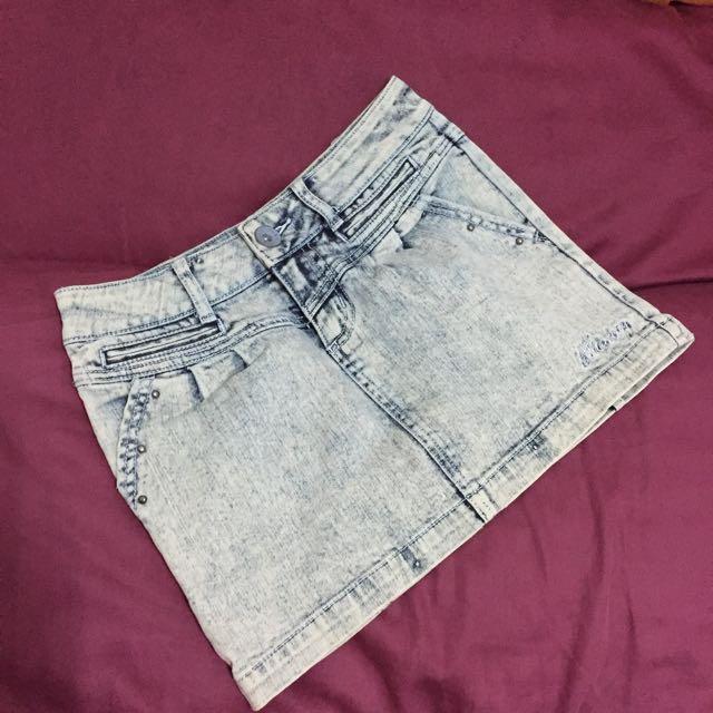 Billabong Rugged Wash Denim Mini Skirt
