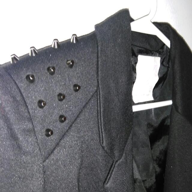 Black Blazer With Spikes Size Small