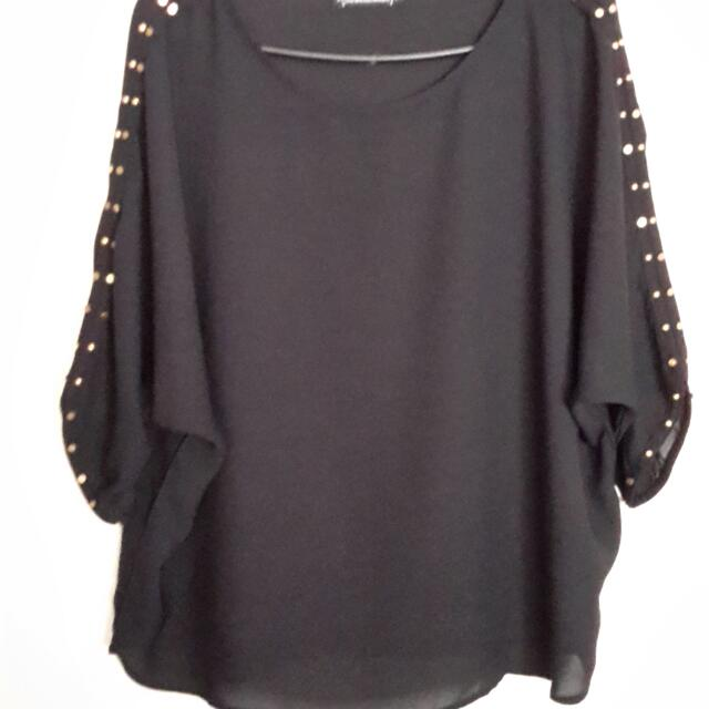 Black Studded top size 12