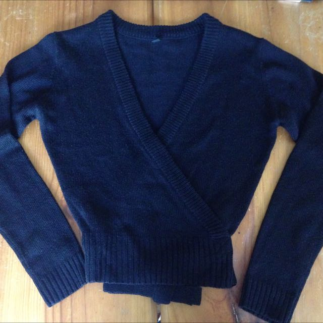 Bloch Knitted Wrap Cardigan With Cross Over Ties