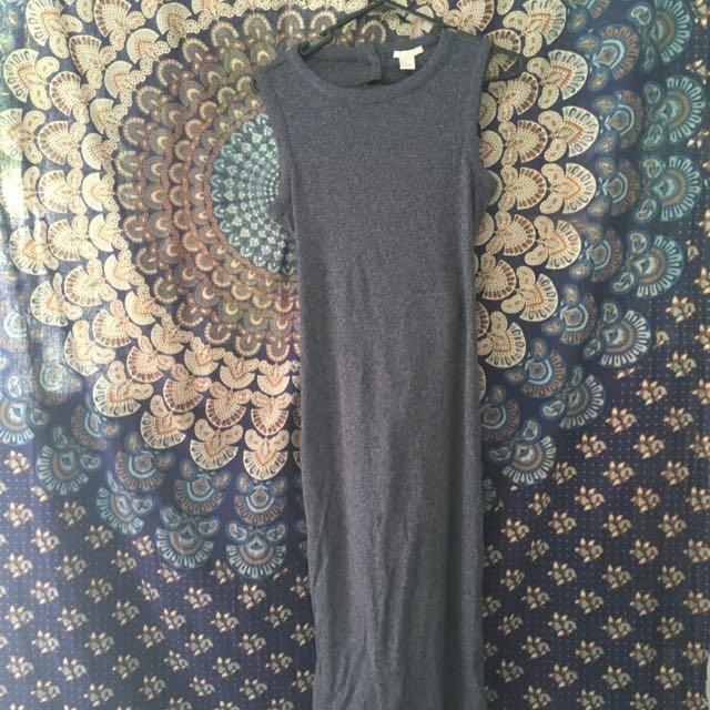 Body Con Mid Length Open Back Dress