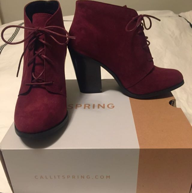 Burgundy Booty From Spring - NEW (Size 9)