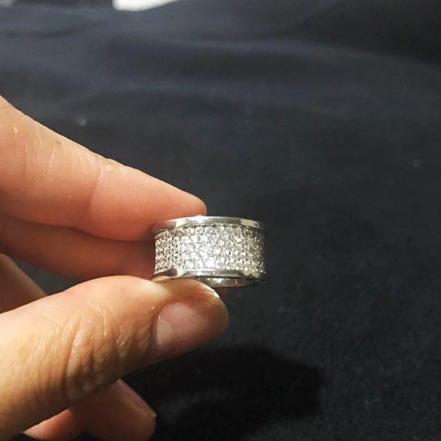 Bvlagari micropaved ring