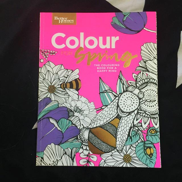 Colour Spring Colouring-In Book