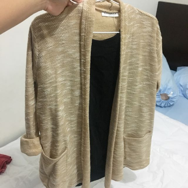Cotton Ink Oatmeal Cardigan