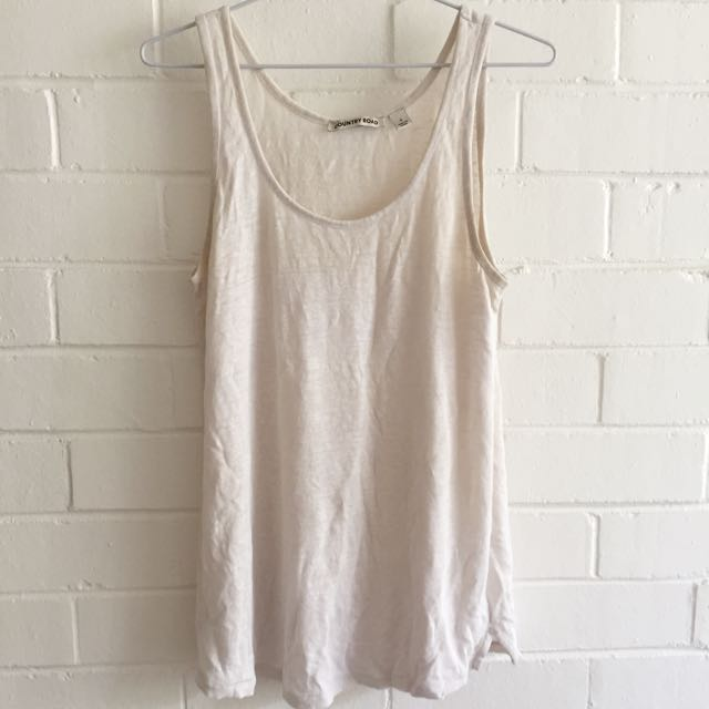 Country Road Off White Singlet