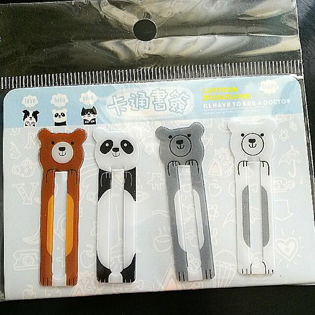 **Cute Animal Bookmarks