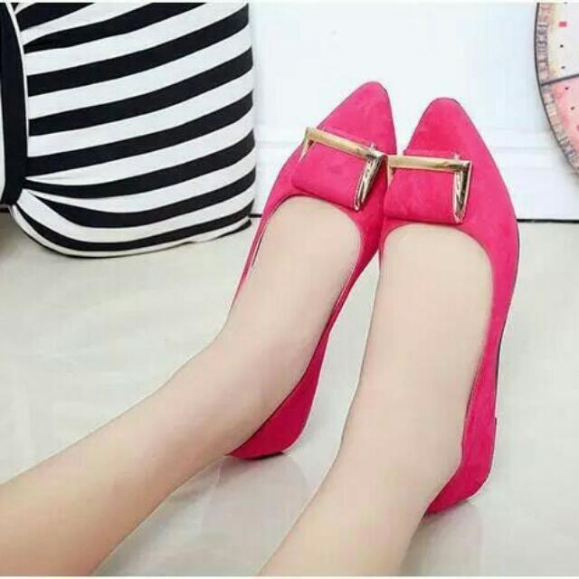 Flat Shoes Wanita Gesper
