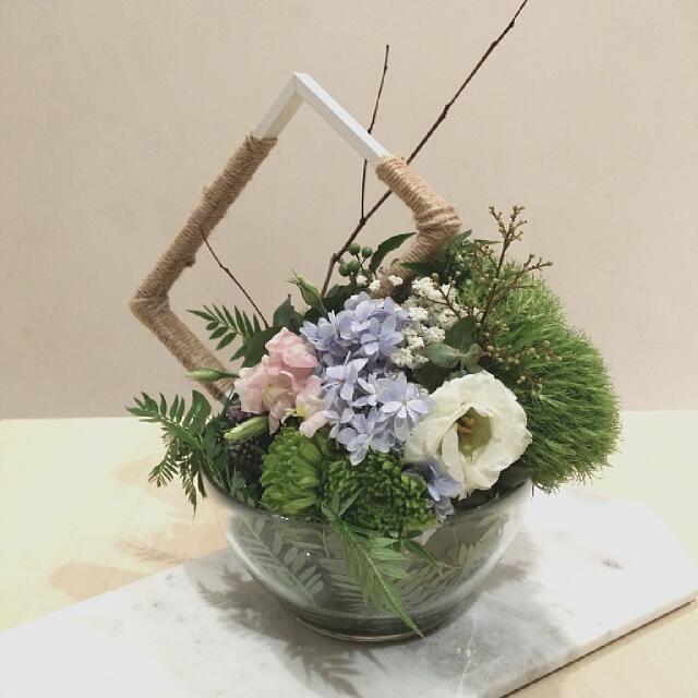 Flower Pot In Glass Bowl