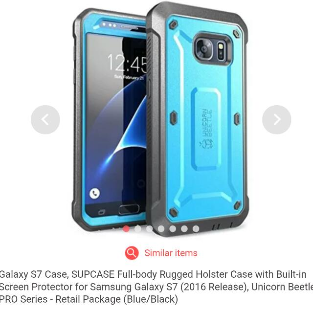 best sneakers 87ce5 fa47e Galaxy S7 Case, SUPCASE Full-body Rugged Holster Case with Built-in Screen  Protector for Samsung Galaxy S7 (2016 Release), Unicorn Beetle PRO Series -  ...