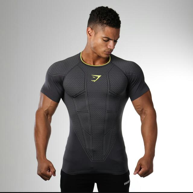 8ee3448c7 Gymshark Onyx Seamless T-shirt, Sports, Sports Apparel on Carousell
