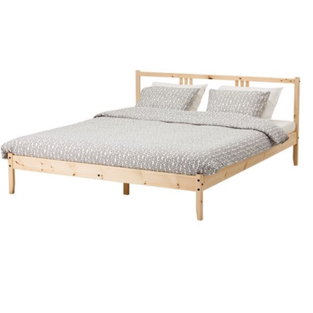 Ikea Bed Frame (Double Size) with thick mattress