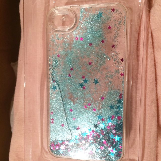 iPhone4 Blue Glittery Case