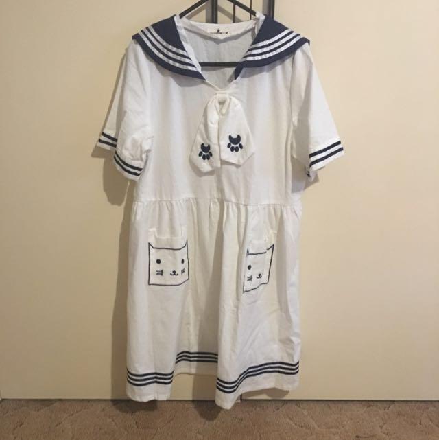 Japanese sailor (cat) Dress (summer)