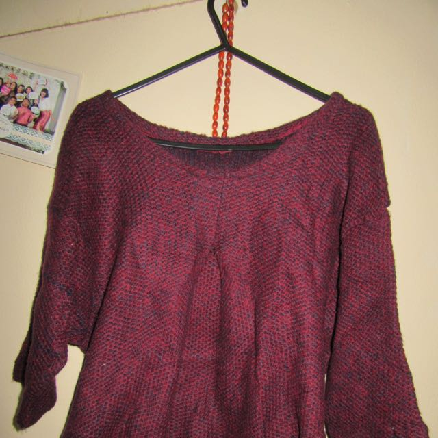 Knitted Blouse Maroon