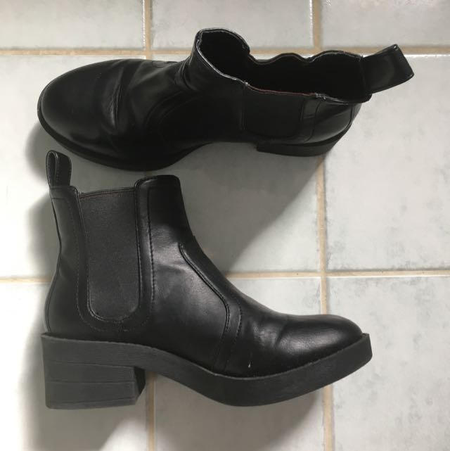 Lipstick Black Ankle Boot