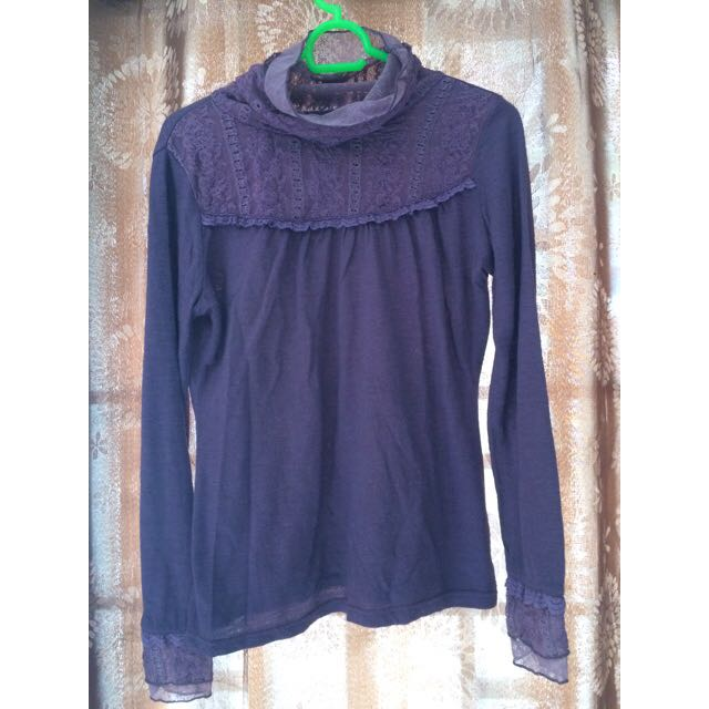 Longsleeve Blouse, Purple