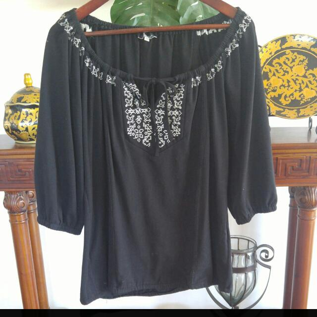 Lumier Longsleeve Top With Drawstring