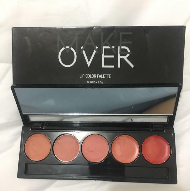 Make Over Lip Palette Poprock Peach