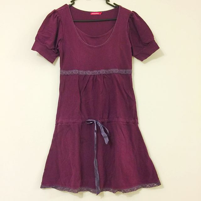 Maternity Dress, Purple, Size S