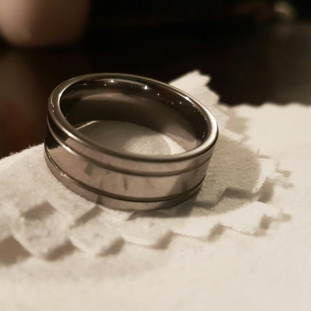 Men's Stainless Steel Ring (Size 10)