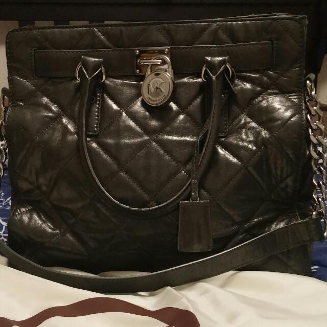 Micheal Kors Grey Hamilton Bag