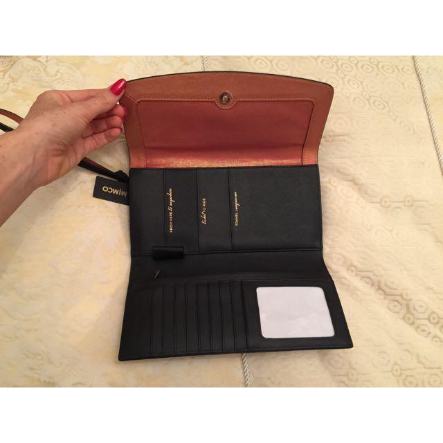 Mimco Supermicra Travel Wallet