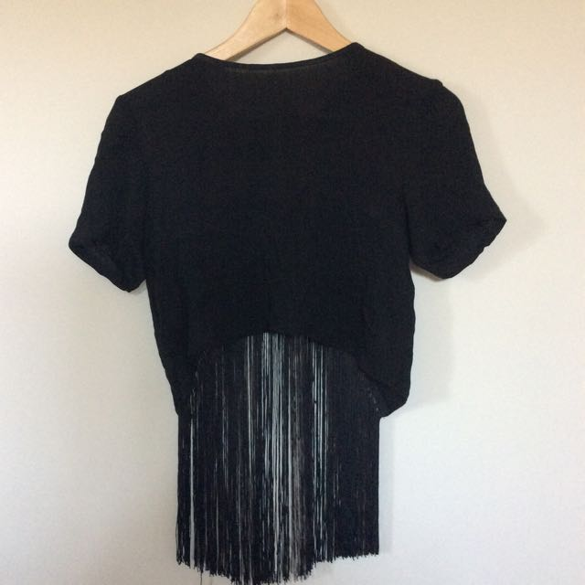 Misguided Fringe Cropped Top