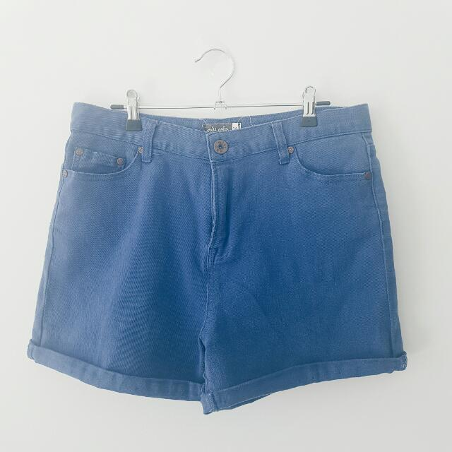 Miss Who High Waisted Blue Denim Shorts