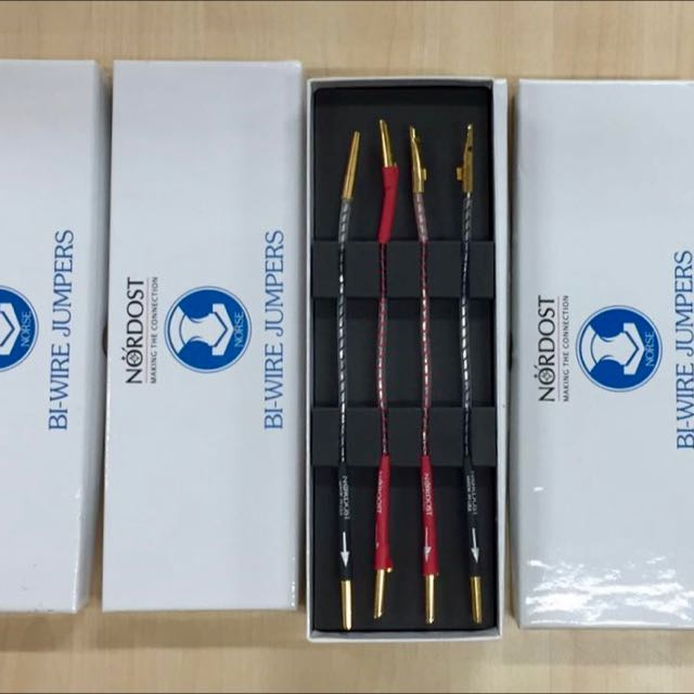 Nordost Norse Bi-wire jumpers, Electronics, Audio on Carousell