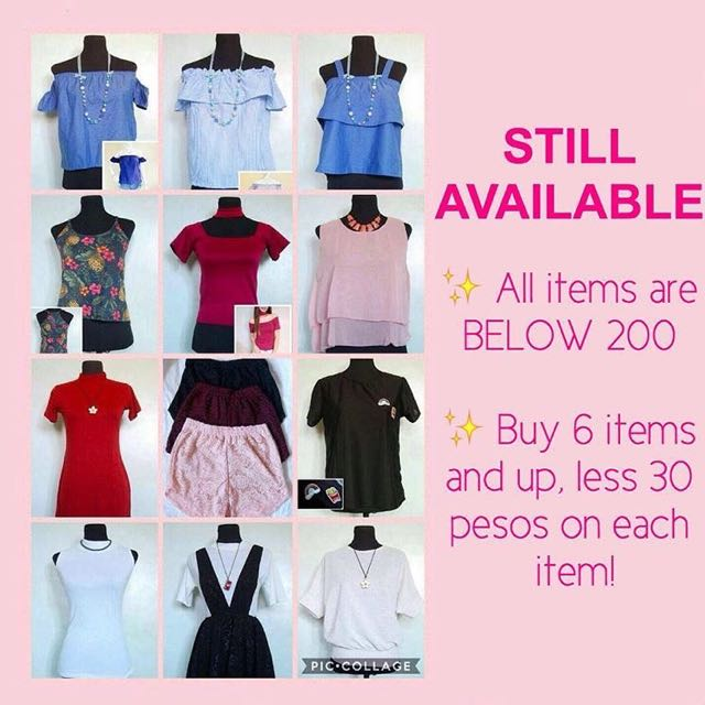 ON HAND ITEMS!