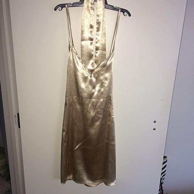 Peppermayo Golden Slip Dress
