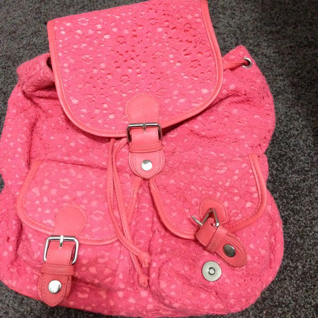 NEW Pink Backpack/ bag
