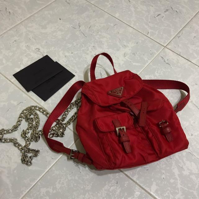 4d180a5d PRADA VELA NYLON CROSSBODY BACKPACK MINI, Luxury, Bags & Wallets on ...