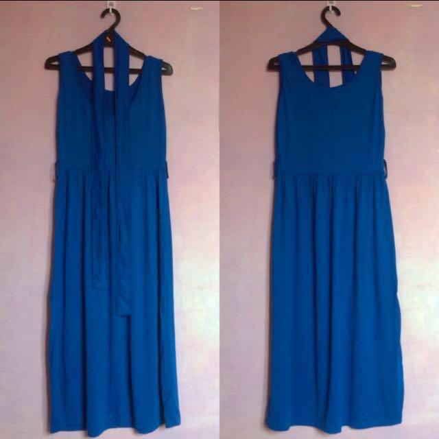 [PRELOVED] Blue Spandex Long Dress